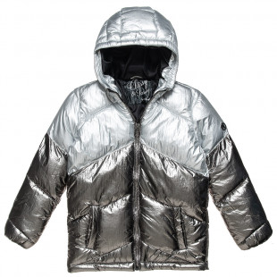 Jacket silver with a hood (6-16 years)