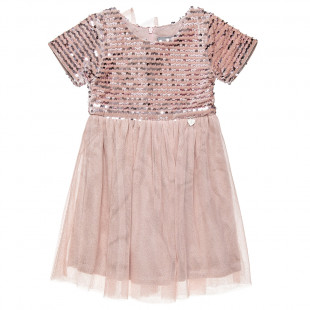 Dress with shiny details and tulle (18 months-5 years)