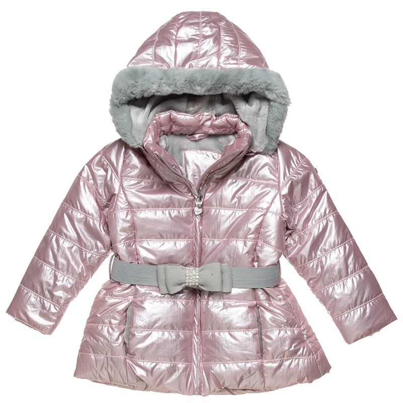 Jacket with hood and belt and bow (9 monhts-5 years)