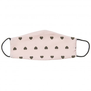 Mask Fabric with hearts all over (3-6 years)