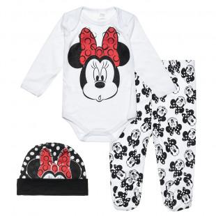 Σετ Disney Minnie Mouse με σκουφάκι (0-3 μηνών)
