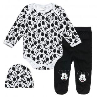 Σετ Disney Mickey Mouse με σκουφάκι (0-3 μηνών)