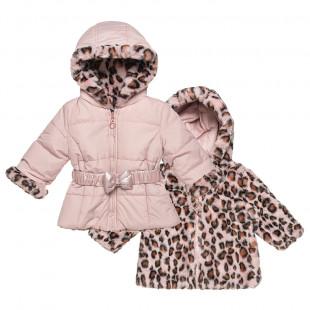 Μπουφάν διπλής όψης με γούνινη επένδυση (12 μηνών-5 ετών)