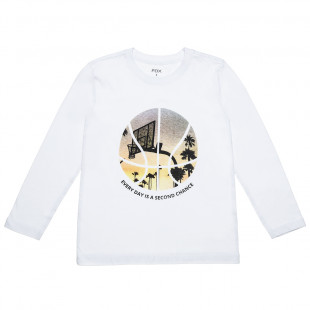 Top printed with lettering (6-16 years)