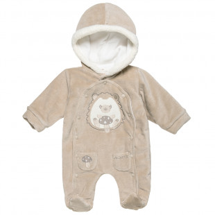 Babygrow Tender Comforts with hood (1-12 monhts)