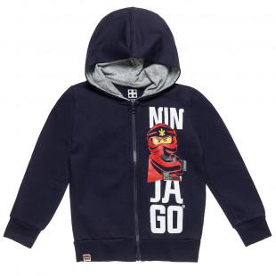 Ζακέτα Ninjago Lego με τσέπες και κουκούλα (4-9 ετών)