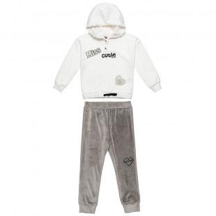 Σετ Moovers μπλούζα με κέντημα και παντελόνι βελουτέ (2-5 ετών)