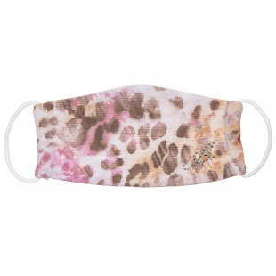 Mask fabric with leopard print and stras (3-6 years)