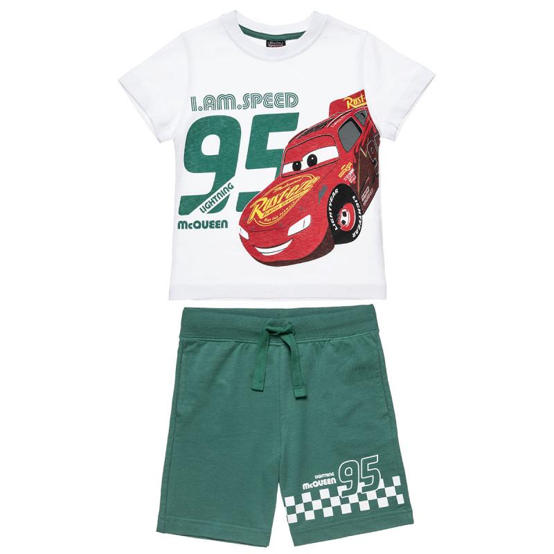 Σετ Mac Queen μπλούζα με τύπωμα και βερμούδα (2-6 ετών)
