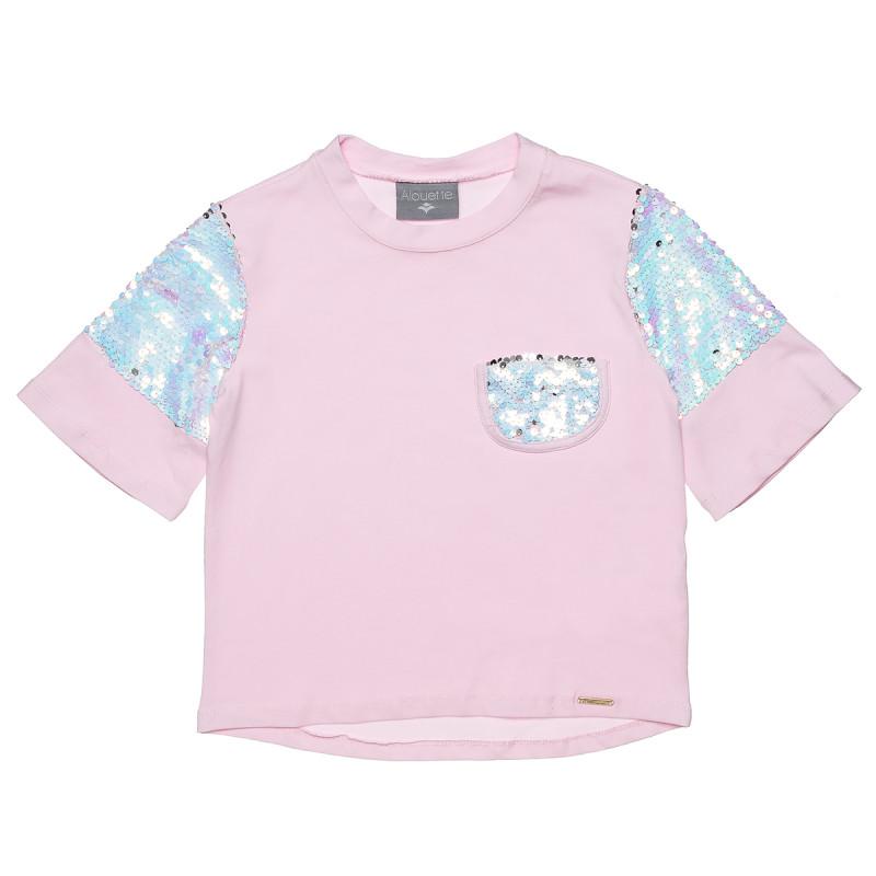 Μπλούζα με λεπτομέρειες απο παγιέτα (6-12 ετών)