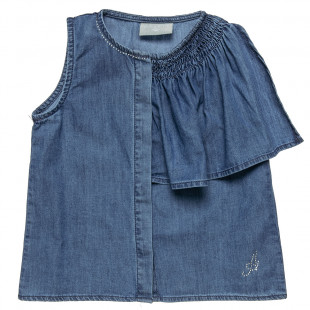 Top jeans with buttons & strass detail (2-5 year)