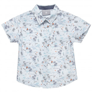 Shirt with all over summer pattern (2-5 years)