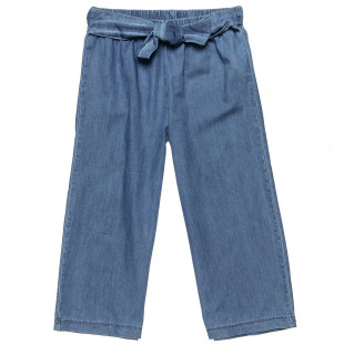 Jean trousers with bow belt (6-14 years)