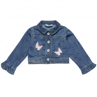 Jacket jeans with strass (12 months-5 years)