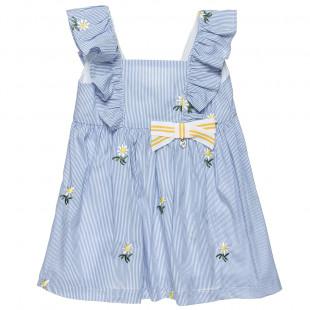 Φόρεμα με κεντήματα και βολάν (2-5 ετών)