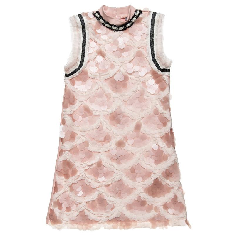Φόρεμα με ιδιαίτερη διακόσμηση και πέρλες (6-16 ετών)