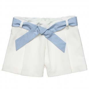 Shorts with stripped belt (6-14 years)