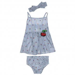 Set top & undrewear with matching hair band (6-18 months)
