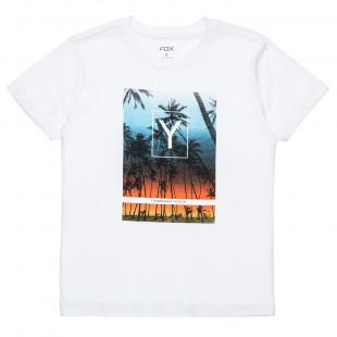 Μπλούζα με τύπωμα φοίνικες (6-16 ετών)
