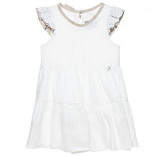 Φόρεμα λινό με λεπτομέρειες απο δαντέλα (2-8 ετών)