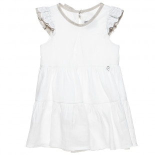Linen dress with delicate lace detailing (2-8 years)