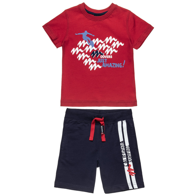 Set Moovers blouse with print and pants (12 months-5 years)