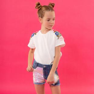 Σορτς τζιν με παγιέτες (6-14 ετών)