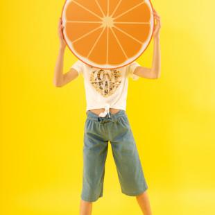 Παντελόνι τζιν με ζώνη φιόγκο (6-14 ετών)