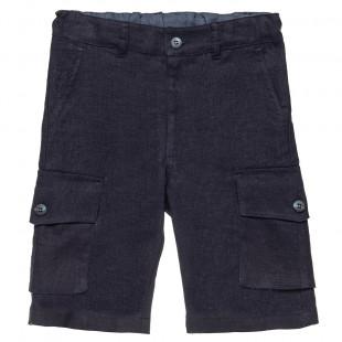 Παντελόνι λινό με cargo τσέπες (6-14 ετών)