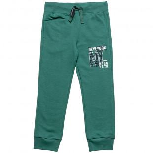 Παντελόνι φόρμας slim fit με ανάγλυφο τύπωμα (6-12 ετών)