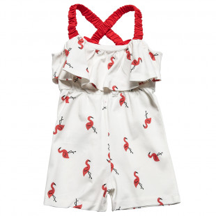 Playsuit with a fun flamingo all over design (18 months-4 years)