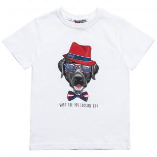 Μπλούζα Moovers με σχέδιο σκύλο (12 μηνών-5 ετών)