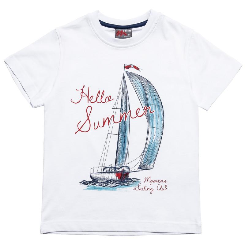 """Μπλούζα Moovers με τύπωμα """"Hello Summer"""" (6-14 ετών)"""