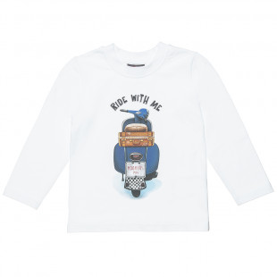 "Long Sleeve Top with a fun design ""Ride with me"" (12 months-5 years)"