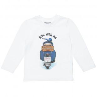 """Μπλούζα Moovers με τύπωμα """"Ride with me"""" (12 μηνών-5 ετών)"""