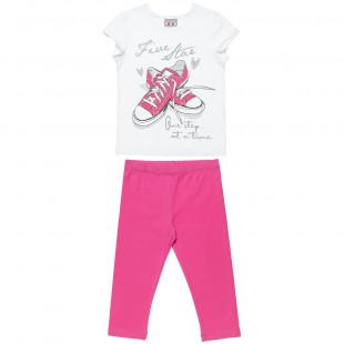Σετ Five Star μπλούζα με glitter λεπτομέρειες και κολάν   (6-16 ετών)