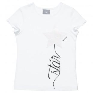 Μπλούζα με τύπωμα και foil διακόσμηση (6-14 ετών)