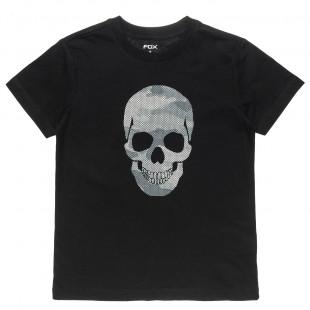 Μπλούζα με τύπωμα νεκροκεφαλή (6-16 ετών)
