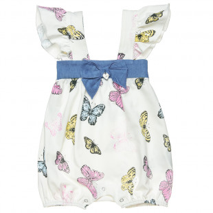 Babygrow designed with a colourful all-over butterfly print (1-9 months)