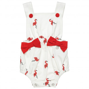 Babygrow with all over flamingo print (1-9 months)