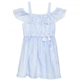 Dress with frilled shoulders (6-14 years)
