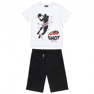 Set Five Star t-shirt featuring a baskeball player and shorts (6-14 years)