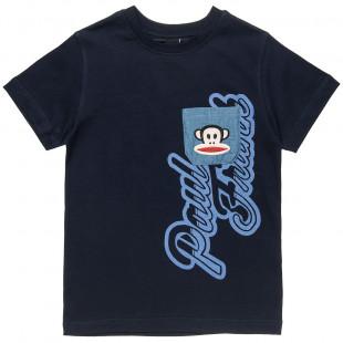 Μπλούζα Paul Frank με τσεπάκι και κέντημα (6-16 ετών)