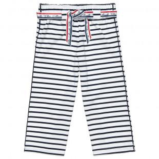 Παντελόνι σε φαρδιά γραμμή με ρίγες (6-14 ετών)
