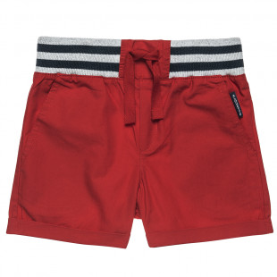 Cotton shorts with elasticated waist and side pockets (12 months-5 years)