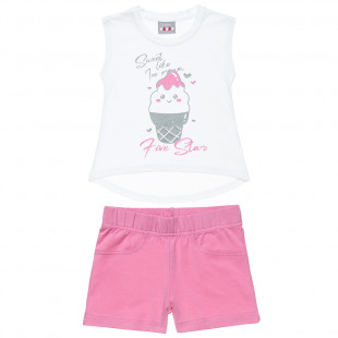 Five Star set top with glitter print and shorts (12 months-5 years)