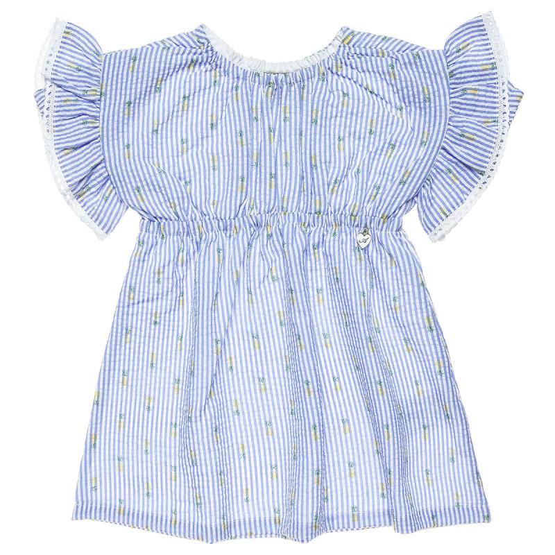 Φόρεμα με γκοφρέ υφή και βολάν στα μανίκια (9 μηνών-5 ετών)