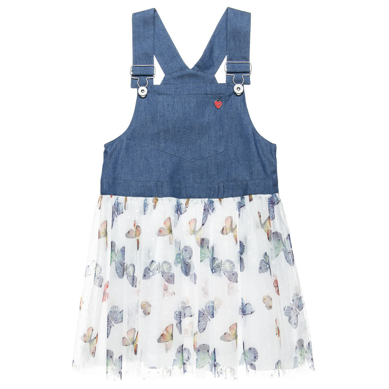 Φόρεμα με αποσπώμενες τιράντες και τούλινη φούστα (12 μηνών-5 ετών)