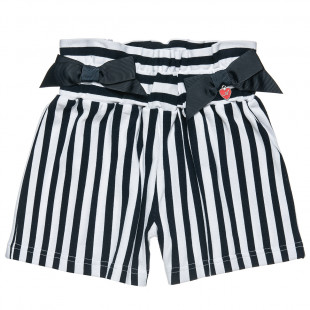 Striped shorts with decorative bows (2-5 years)