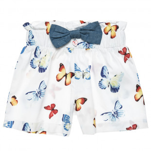 Shorts with all-over butterfly print (2-5 years)